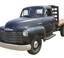 1950 Chevrolet Flat Bed Antique Pickup Truck by KWJphotoart