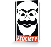 Fsociety Mask Mr. Robot  Greeting Card