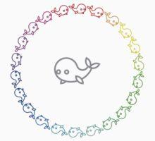 Rainbow Whale Ring Kids Tee
