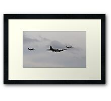 Formation of B-17G 'Sally B' & Her 'Little Friends' P-51 Mustangs Framed Print
