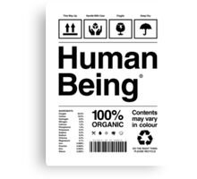 Human Being® Canvas Print