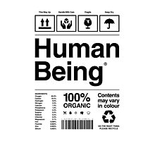 Human Being® Photographic Print