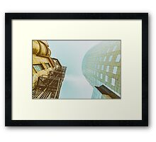 Old Versus New Architecture Framed Print