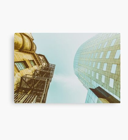 Old Versus New Architecture Canvas Print