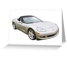 2007 Chevrolet Corvette C6 Convertible Muscle Car Greeting Card