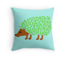 Leafy Hedgehog Throw Pillow