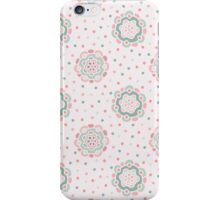 Doodle floral pattern. Seamless boho background. Beautiful pastel wallpaper. iPhone Case/Skin