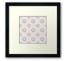 Doodle floral pattern. Seamless boho background. Beautiful pastel wallpaper. Framed Print