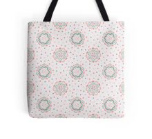 Doodle floral pattern. Seamless boho background. Beautiful pastel wallpaper. Tote Bag