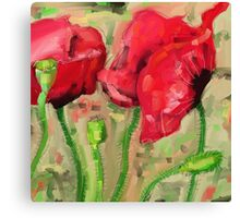 Red Poppies - 2012 Canvas Print