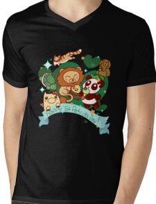 Happy St. Patrick's Day Animals Mens V-Neck T-Shirt
