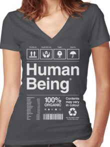 Human Being® | Alternate Women's Fitted V-Neck T-Shirt