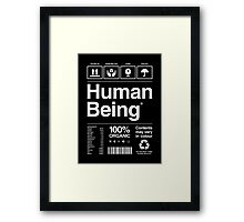 Human Being® | Alternate Framed Print