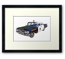 1960 Chevrolet Biscayne Police Car Framed Print