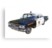 1960 Chevrolet Biscayne Police Car Canvas Print