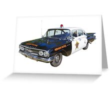 1960 Chevrolet Biscayne Police Car Greeting Card