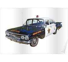 1960 Chevrolet Biscayne Police Car Poster