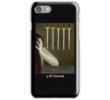 Tarot: 5 of Swords iPhone Case/Skin