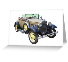 1931 Ford Model A Cabriolet Antique Car Greeting Card