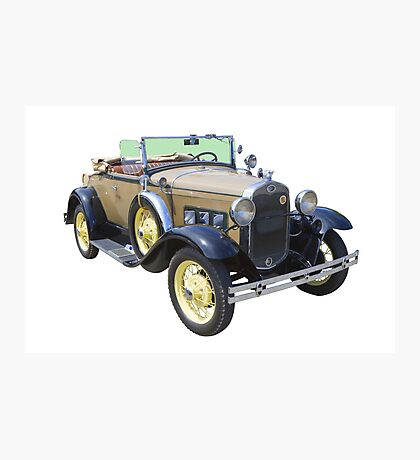 1931 Ford Model A Cabriolet Antique Car Photographic Print