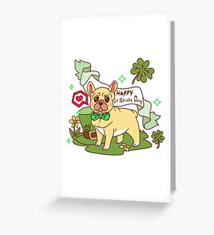 St. Patrick's Day French Bulldog  Greeting Card