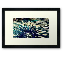 Blue Floral Paper Cutting  Framed Print