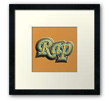 Vintage Rap Framed Print