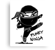 funky ninja Canvas Print