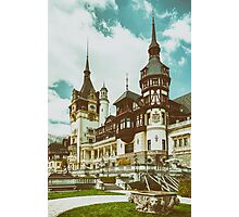 Peles Castle In Sinaia, Romania Photographic Print