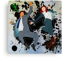 Mulder and Scully - Jump Canvas Print