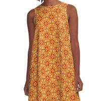 Abstract Geometric 260413(10) A-Line Dress