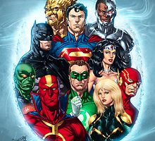JLA Group Selfie by D'raj by draj