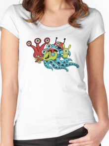 Monster Mash-up Women's Fitted Scoop T-Shirt