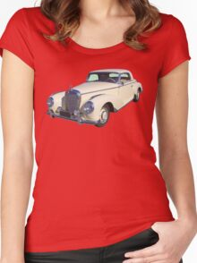 White Mercedes Benz 300 Luxury Car Women's Fitted Scoop T-Shirt