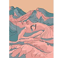 I Saw Her Face In The Mountains Photographic Print