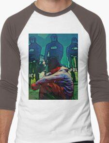 NON-VIOLENT BLACK RAGE Men's Baseball ¾ T-Shirt