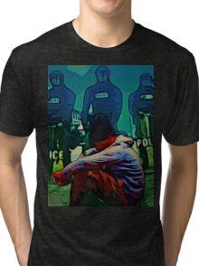 NON-VIOLENT BLACK RAGE Tri-blend T-Shirt