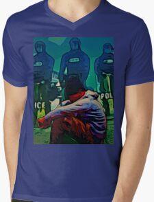 NON-VIOLENT BLACK RAGE Mens V-Neck T-Shirt