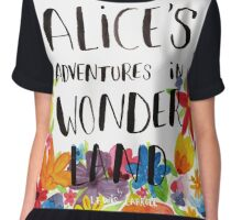 Alice's Adventures in Wonderland Book Cover Chiffon Top