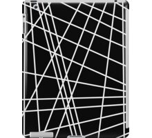 Black and white lines iPad Case/Skin
