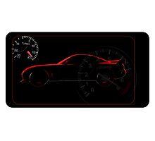 Mazda rx7 silhouette Photographic Print