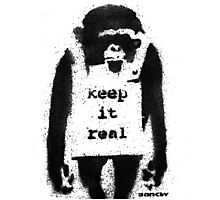 BANKSY - KEEP IT REAL Photographic Print