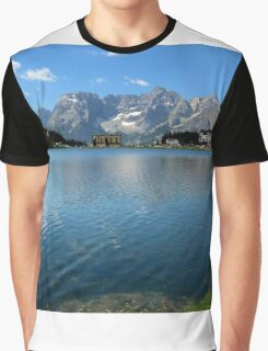 The blue water of Misurina Lake Graphic T-Shirt