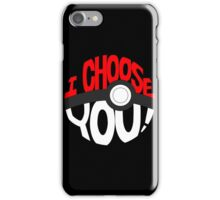 pokemon i choose you iPhone Case/Skin