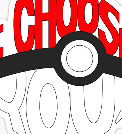 pokemon i choose you Sticker