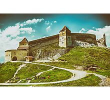 Rasnov Medieval Citadel In Romania Built Between 1211 and 1225 Photographic Print
