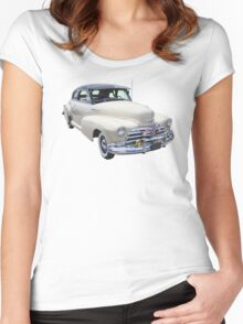 1948 Chevrolet Fleetmaster Antique Car Women's Fitted Scoop T-Shirt