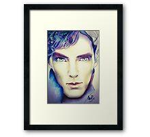 Benedict Cumberbatch as Sherlock Design 3 Framed Print