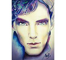 Benedict Cumberbatch as Sherlock Design 3 Photographic Print