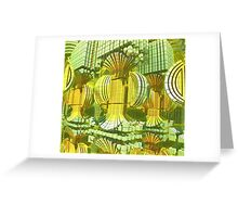 Green Pannels Greeting Card